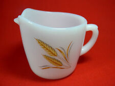 VINTAGE Fire King Oven Ware SHEAVES OF WHEAT Milk Jug/Creamer 1952-63 Retro VGC