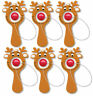 6 Reindeer Paddle Bat Game - Stocking Toy Loot/Party Bag Fillers Kids Christmas