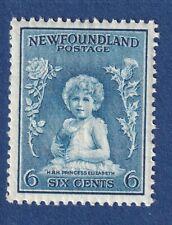 Newfoundland stamps #192 6c dull blue Princess Elizabeth Perkins issue VFmnh