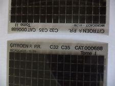 n°h337 lot  2 microfiche d'epoque citroen c35  c32 n°688