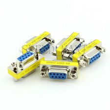 5 X 9 Pin RS232 DB9 Female to Female Serial Cable Gender Changer Coupler Adapter