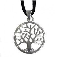 Colgante pequeño árbol de la vida de metal con cable made in italy