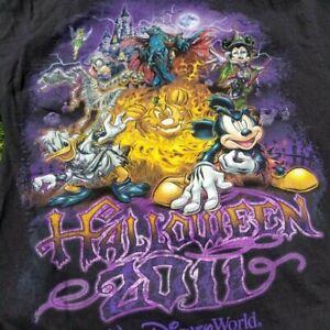 Walt Disney Land Halloween 2011 Shirt Size Small S Double Sided Mickey Goofy
