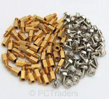50x 6.5mm Brass Standoff 6-32 - M3 PC Case Motherboard Riser + Screws