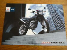 SUZUKI DR 125 SM MOTORBIKE BROCHURE,  2008  POST FREE (UK)