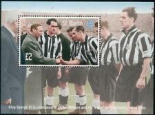 NEWCASTLE Jackie Milburn 1951 FA CUP Football Stamp MS