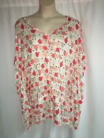 Lane Bryant Blouse Dolman Dot Womens Plus Size 14/16 18/20 22/24 26/28 NWOT
