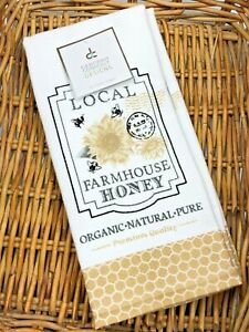 (2) DEBORAH CONNOLLY FARMHOUSE HONEY BEE Kitchen Dish Towels Waffle Cotton
