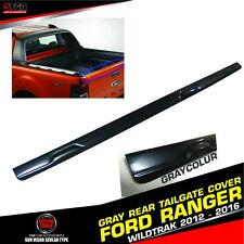 GRAY REAR TAILGATE COVER TRIM ABS FORD RANGER T6 XL PX XLT WILDTRAK 2012-2016