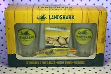 Landshark Lager Deluxe Pint Glass Gift Set W/ Bottle Opener Margaritaville