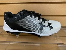 UnderArmour Yard Low DT Baseball Cleats Style #3000353-Black/ White-Brand new