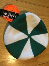 NOS Vintage 80s KANGOL flat cap hat S/M green white Sunstopper NWT deadstock