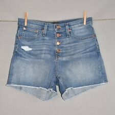 J.CREW NEW $80 Distressed High-Rise Button Fly Cutoff Jean Shorts Size 26
