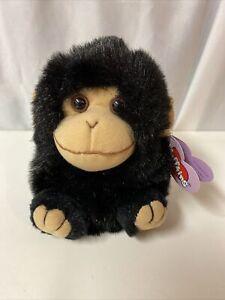 Swibco PUFFKINS Plush MILO Black Monkey Chimp Beanbag Plush