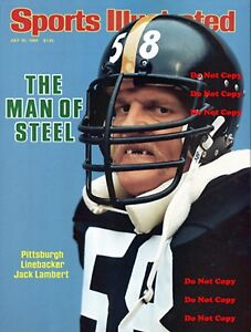 Jack Lambert Pittsburgh Steelers 8X10 PHOTO Man Cave Sign Sports Illustrated PIC