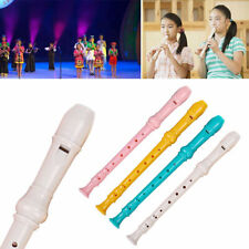 More details for 8-hole descant soprano recorder instrument with cleaning rod colorful music