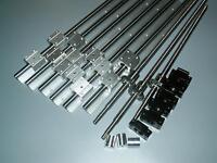 SBR20-300/1000/1000mm linear rail+ballscrew RM1605+3set BK/BF12 end bearing CNC