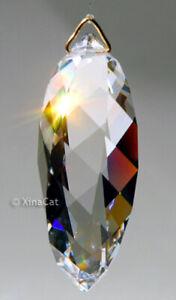 """Swarovski  8950-8011 50mm """"Twist"""" Crystal Clear Pendant Prism Suncatcher w/ Logo"""