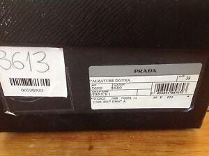 Prada shoes 39 black patent BNIB authentic receipt bag