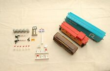 3 Model Trains Bachmann Caboose Trolly Gas Station Parts