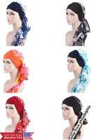 Fashion Muslim Womens Head Scarf Chemo Hat Turban Headwear Bandana Beanie 521