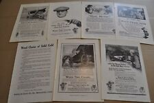 1918 WEED Tire Chains advertisements x7, Anti-Skid Chains, Chain Jacks