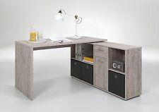 Schreibtisch Lex, Sandeiche, Computertisch, Winkelschreibtisch, Bürotisch, Tisch