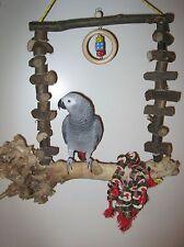 Freisitz SCHAUKEL für Papageien Wurzelholz Papageienspielzeug **NEU**