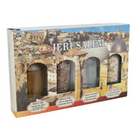 Gift Set from Holy Land Kit 4 pcs Holy Oil Jordan's Water Soil Insence Jerusalem