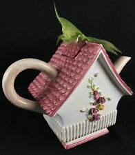 Royal Albert Ceramic Teapot; Country Roses Edition the Cottage