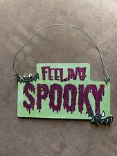 New ListingFeeling Spooky Halloween Hanging Sign Glitter Bats