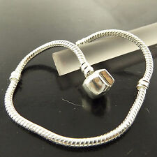 A261 GENUINE REAL 925 STERLING SILVER S/F LADIES SNAKE CHARM BRACELET BANGLE