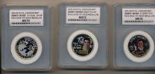 SIDNEY CROSBY 1ST ISSUE MEDALLION COIN ROYAL CANADIAN MINT GRADED MS70 SET
