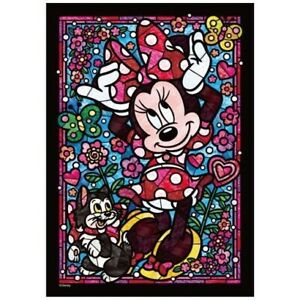 Tenyo Puzzle Disney Minnie Mouse Stained Glass Puzzle 266 pieces