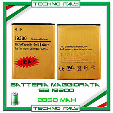 Batteria Maggiorata GOLD SAMSUNG S3 i9300 2850mAh potenziata - NO DOGANA