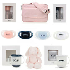 HUGO BOSS BABY CHANGING BAG, DUMMIES, BOTTLE SET SIP CUP TEDDY BEAR TOY