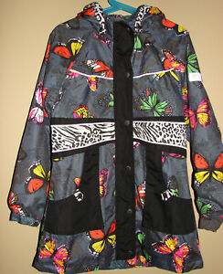 ME TOO Mantel Jacke Regenjacke Übergangsjacke 104 110 116 Schmetterlinge NEU