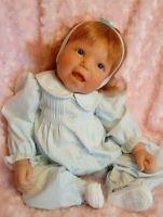 "Lee Middleton/Reva 20""vinyl doll /pacifier realistic baby girl reimagined EUC"