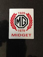 MG MIDGET COMMEMORATION PLAQUE MG1081 COLLECTORS ITEM