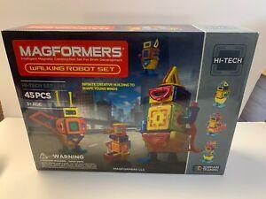 MAGFORMERS Walking Robot Hi-Tech Set - 45 Pieces