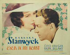 Ever In My Heart - 1933 - Barbara Stanwyck Otto Kruger Vintage Pre-Code Film DVD