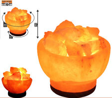 ~Fire Bowl Himalayan Salt Lamp Natural Crystal Sea Salt Rock Multi Light Lamp