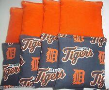 Aca Regulation Corn Hole Bags Set of 8 Mlb Detroit Tigers & Solid Orange Bags