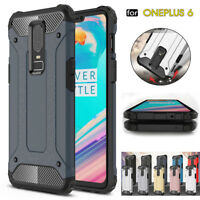 For OnePlus 6 Shockproof Hybrid Rugged Soft TPU Bumper Protective Case Cover