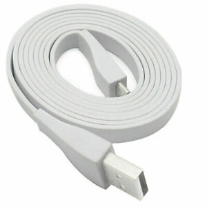 White Micro USB Cable For Logitech Ultimate Ears UE BOOM Bluetooth Speaker 4ft