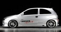 Rieger Seitenschweller schwarz matt für Opel Corsa C 3-türer