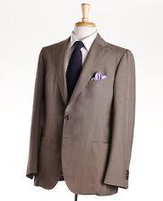 NWT $6500 CESARE ATTOLINI Lightweight Dupioni Silk Summer Suit 40 R (Eu 50)