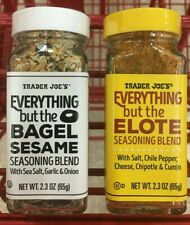 NEW and RARE! Trader Joe's EVERYTHING BUT THE ELOTE / BAGEL combo pack