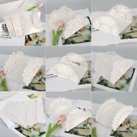 UK 10pcs Set Floral Laser Cut Wedding Invitation Card Party Blank Inner Envelope