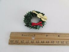 Dollhouse Miniature - Wreath with Red Bow, and Gold Violin
